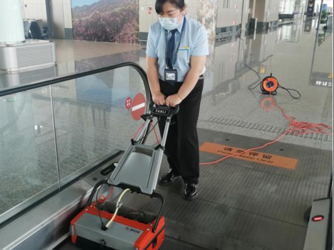 青岛胶东国际机场采购坦力扶梯清洗机TL-M45B
