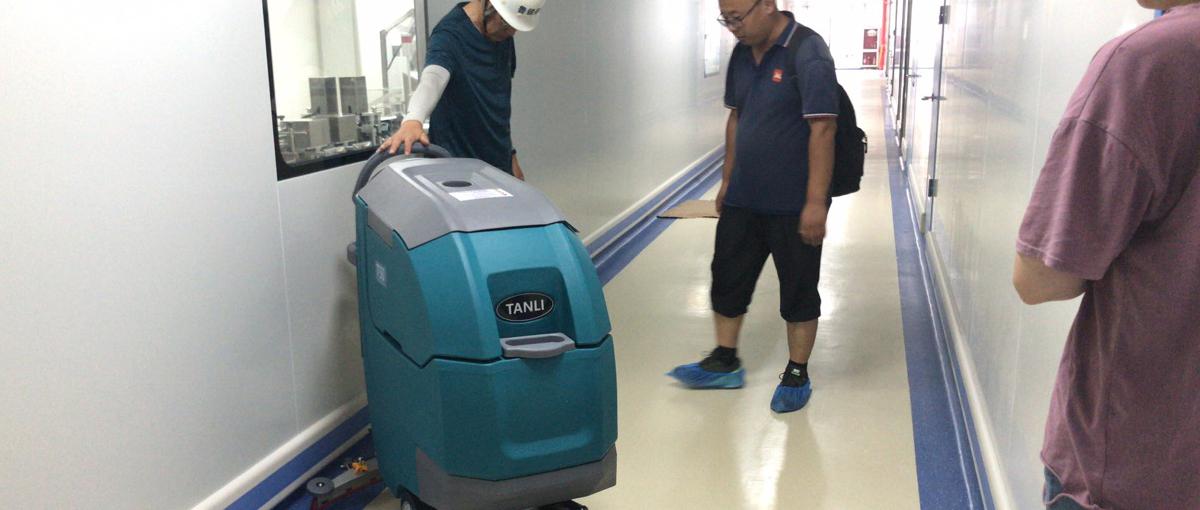 某大型制造业公司为厂房配置坦力T50手推式洗地机