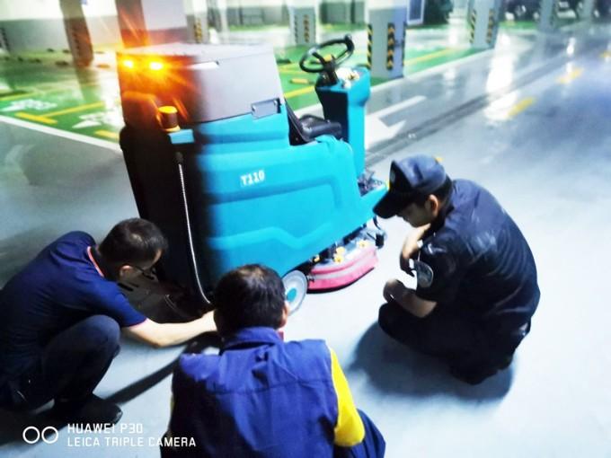 客户案例:某大型物业公司为新项目配置坦力T110驾驶式洗地车