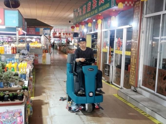 客户案例:TANLI坦力T110驾驶式洗地机助力青岛某农贸市场