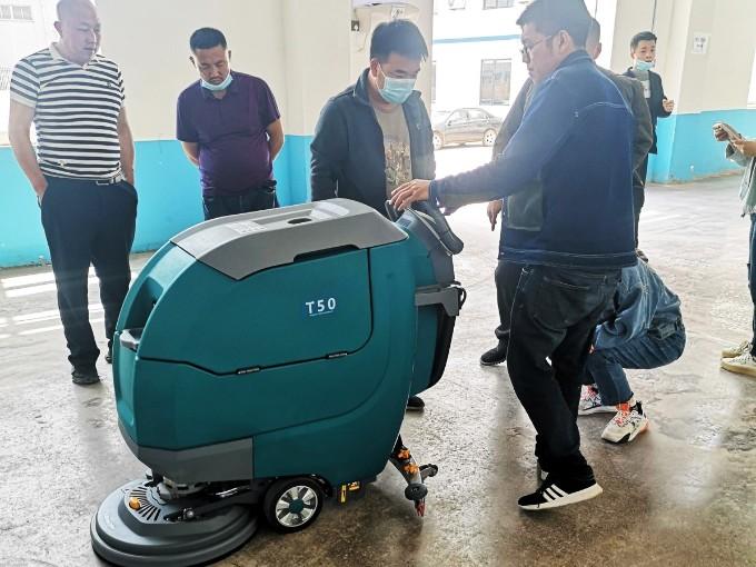 客户案例:TANLI坦力T50手推式洗地机助力青岛某食品厂