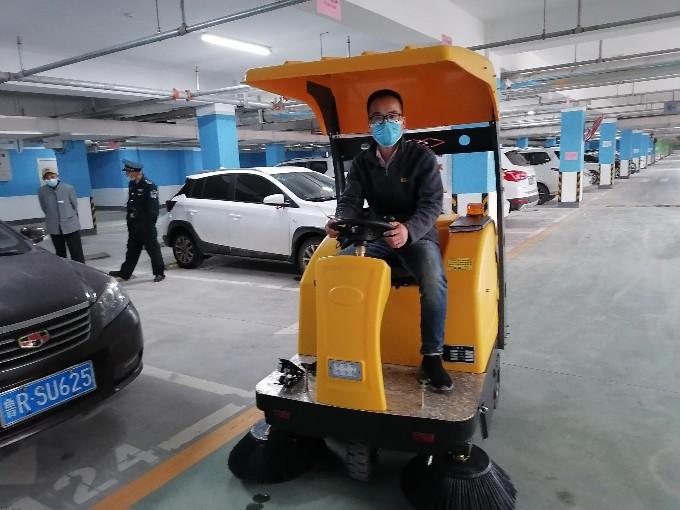 大型的环氧地坪地下停车场如何提高保洁效率?