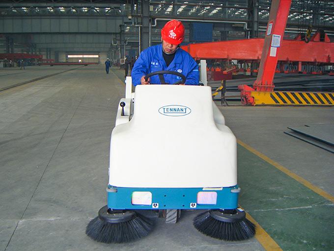 北海船厂使用坦能6200、S10清洁设备提高现场作业环境