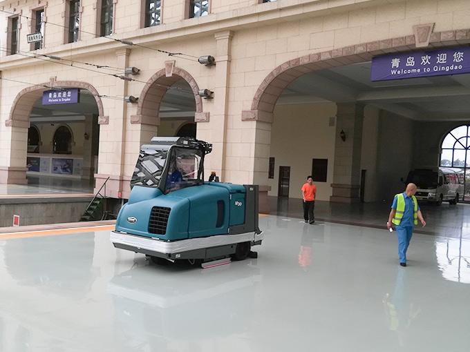 青岛高铁站定购坦力清洁设备扫地机