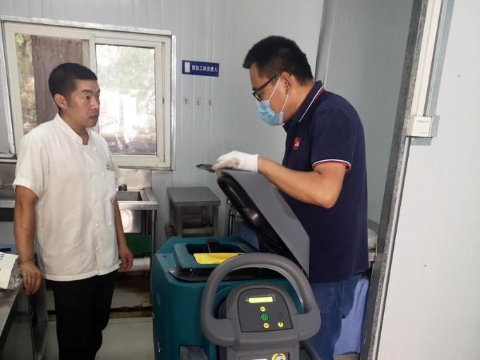 青岛超银中学又又又复购坦力T50手推式洗地机1台